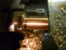 Screwcutting a phosphor bronze steam fitting.